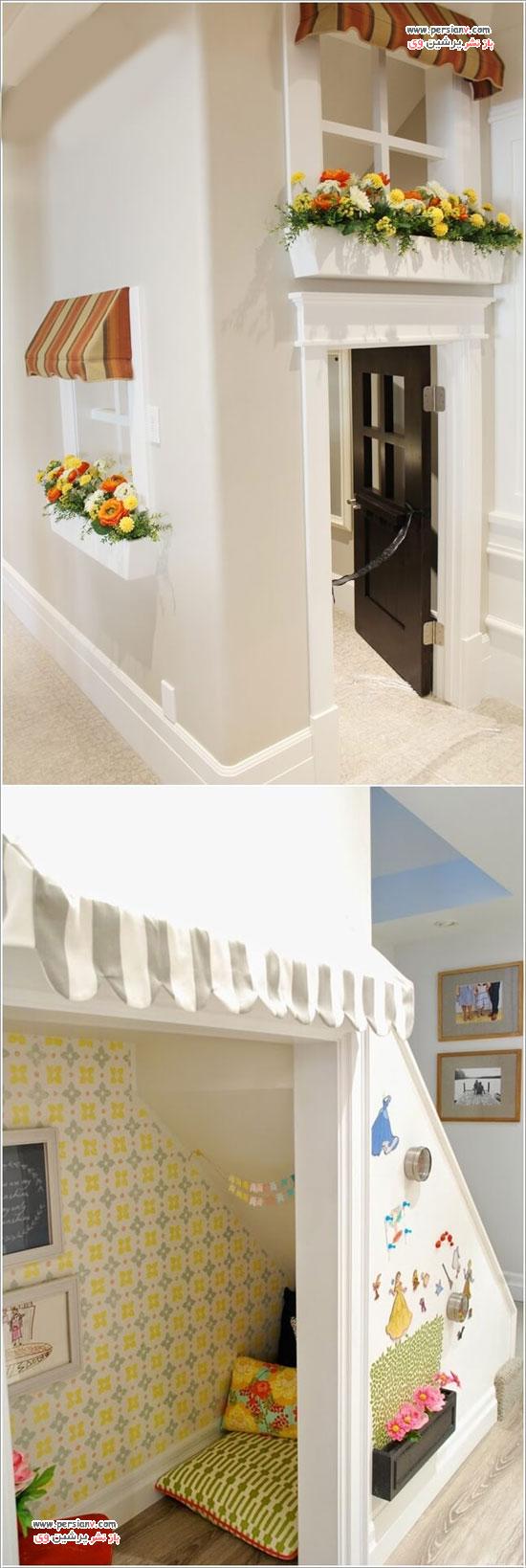 استفاده های مختلف از فضای زیر پله