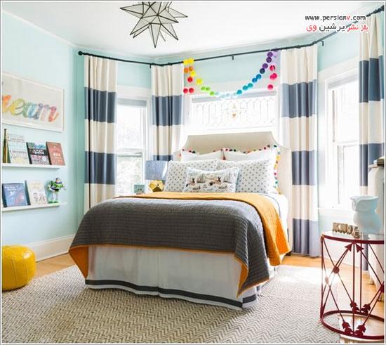 دکور اتاق کودک با طرح راه راه