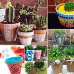 روش های ابتکاری تزیین و دکور گلدان برای زیباسازی حیاط و باغچه