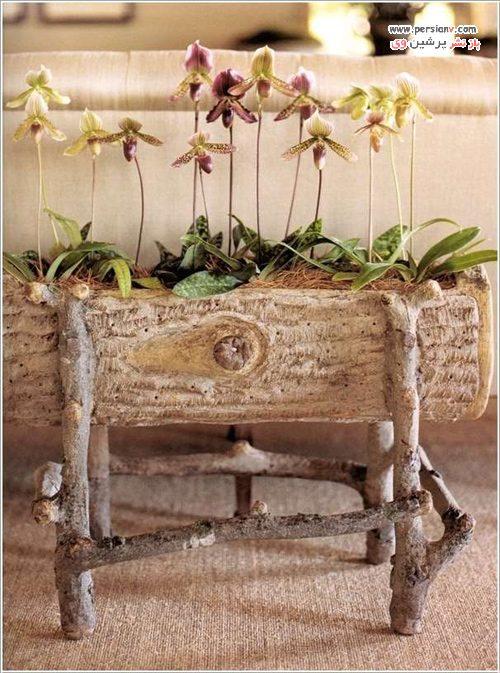 ساخت گلدان ابتکاری