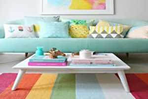 دکوراسیون اتاق نشیمن با رنگ های روشن پاستیلی مناسب فصل بهار +عکس