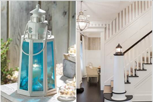 ایده های جذاب برای دکوراسیون منزل با الهام از طرح فانوس دریایی