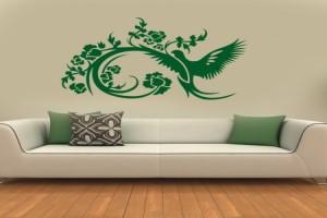 تزئین دیوارهای خانه با استیکرهای دیواری ارزان قیمت+تصاویر