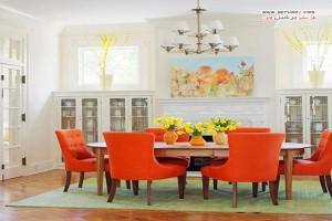 میز و صندلی ناهارخوری در رنگ های زنده و جذاب و تاثیرش در دکوراتاق +عکس