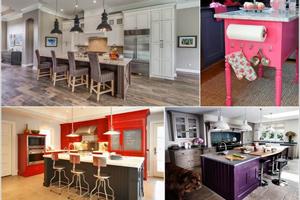ایده های جذاب و زیبا برای ست کردن رنگ کابینت ها و جزیره آشپزخانه