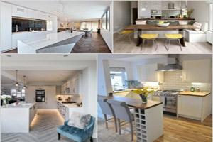آشپزخانه پلان باز در طراحی داخلی مدرن منزل
