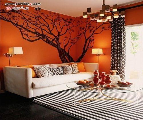 دکوراسیون نارنجی