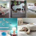 دکوراسیون اسب برای اتاق خواب کودک به شکل زیبا و دوست داشتنی
