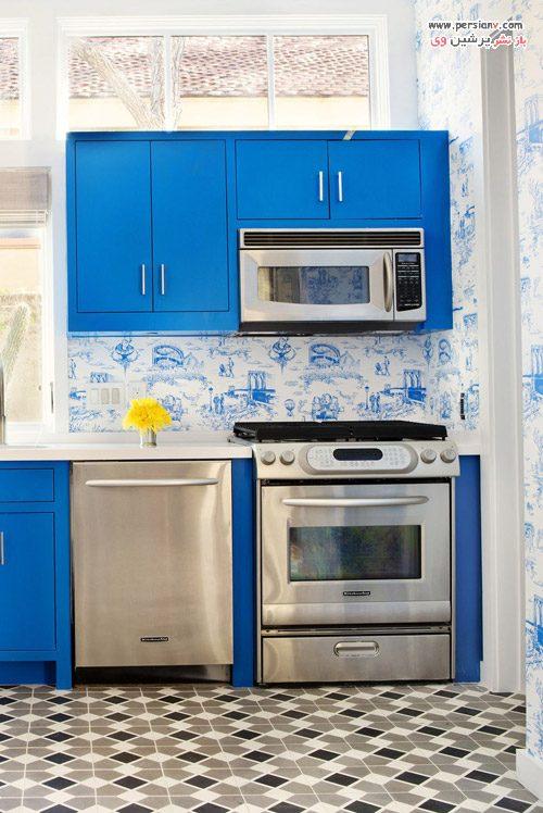 کاغذ دیواری در آشپزخانه