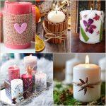ایده های تزیین شمع با وسایل ساده در منزل