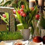 دکور و تزیین سفره هفت سین و میز پذیرایی در عید نوروز