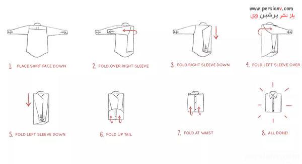 نحوه چیدمان لباس در کشو