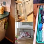 نحوه ساماندهی دستمال ها و حوله آشپزخانه