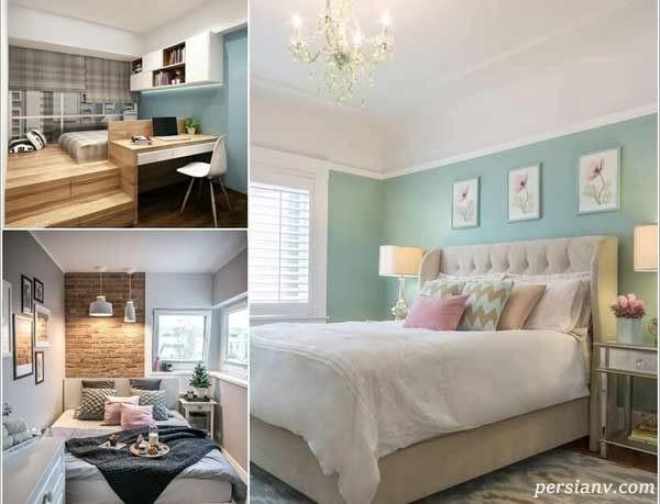 ایده های شگفت انگیز برای دکوراسیون اتاق خواب کمجا