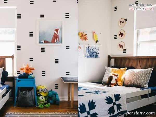 تزیین دیوار اتاق کودک با فوم