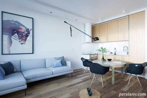 ایده های لاکچری برای طراحی و دکوراسیون خانه های ۶۰ متری و کمتر
