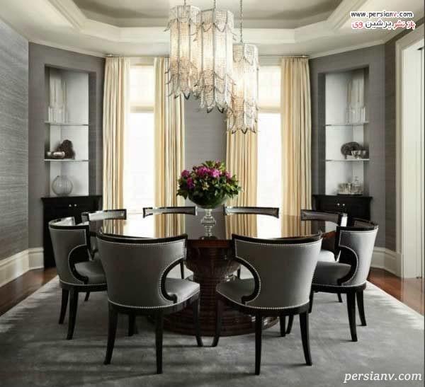 تزیین میز ناهار خوری گرد