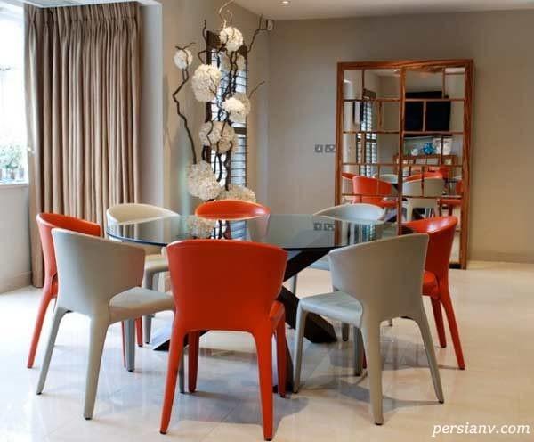 تزیین میز ناهار خوری گرد در دکوراسیون منزل
