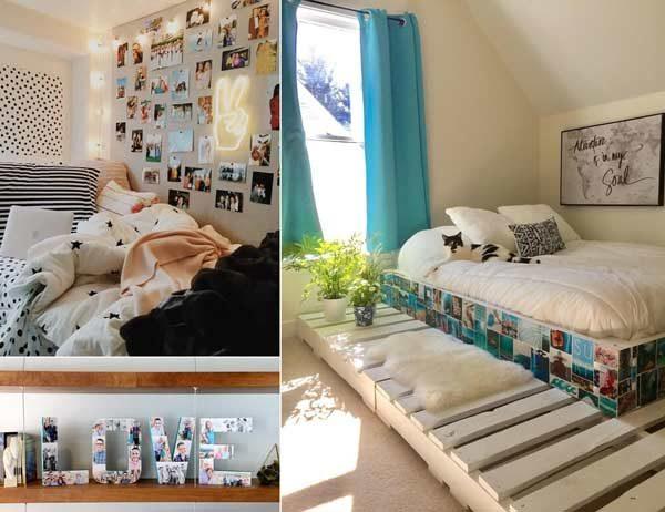 تزیین دیوار با عکس بدون قاب در طراحی داخلی منزل