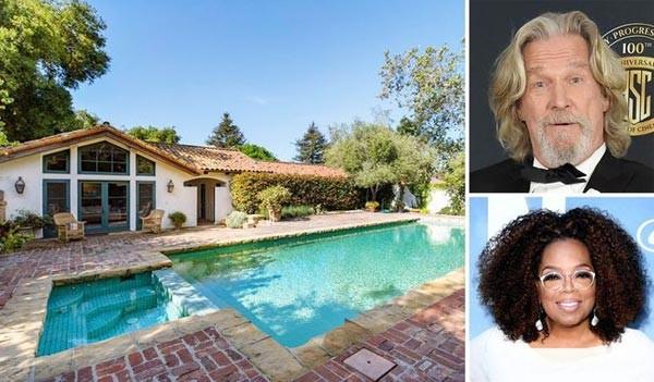 خانه اپرا وینفری در کالیفرنیا که از بازیگر مشهور جف بریجز خرید