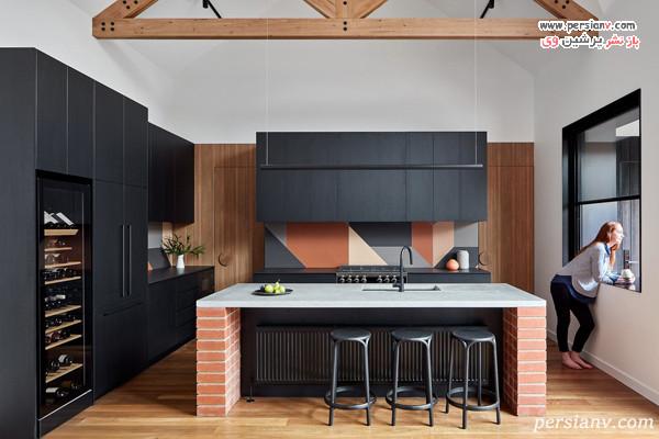 طرح کاشی در دیوار آشپزخانه