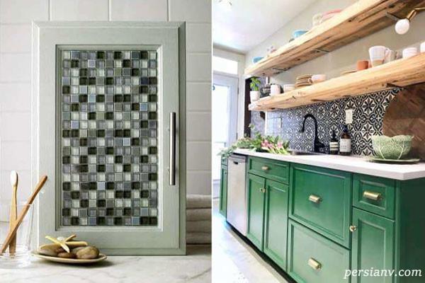 نوسازی کابینت های قدیمی آشپزخانه با ایده های کم هزینه
