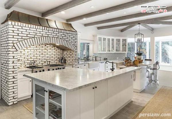 طراحی شیک یکی از آشپزخانه های خانه سلنا