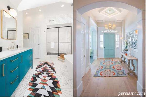 قالیچه رنگی و ایده های جذاب کاربرد آن در بخش های مختلف منزل