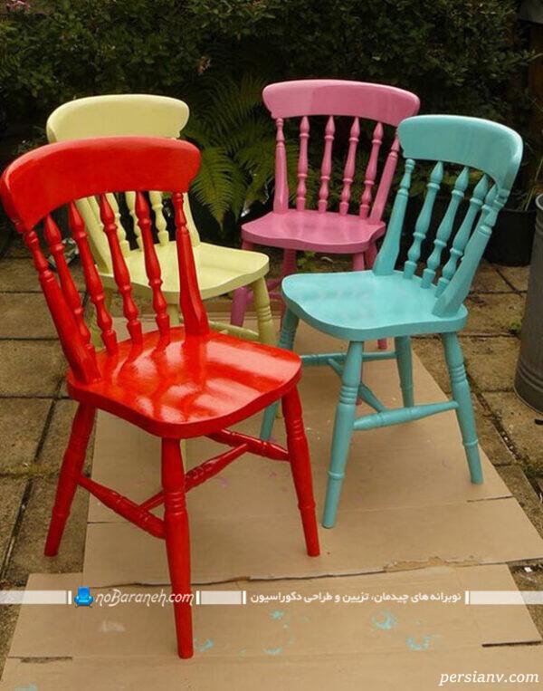 رنگ کردن صندلی چوبی