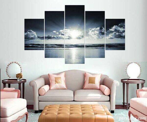 انواع تابلوهای زیبا برای اتاق پذیرایی