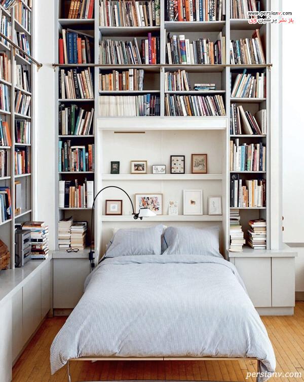 کتابخانه بالای تخت
