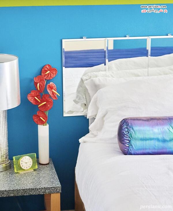 نصب آینه بالای تخت