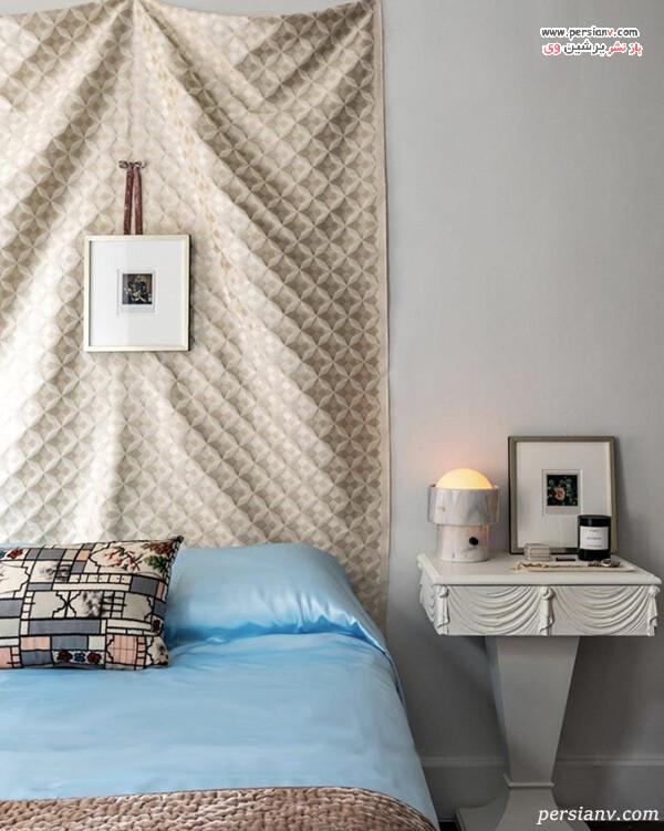 دکور اتاق خواب با پارچه
