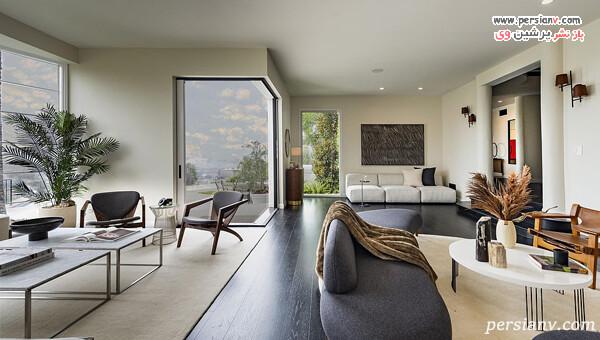 طراحی داخلی شیک خانه خواننده مشهور