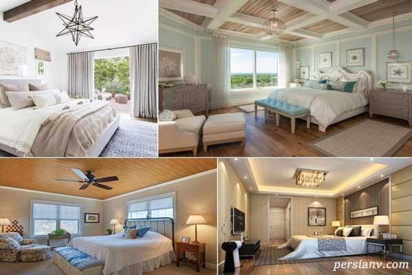 نمونه سقف اتاق خواب در طراحی داخلی شیک و مدرن