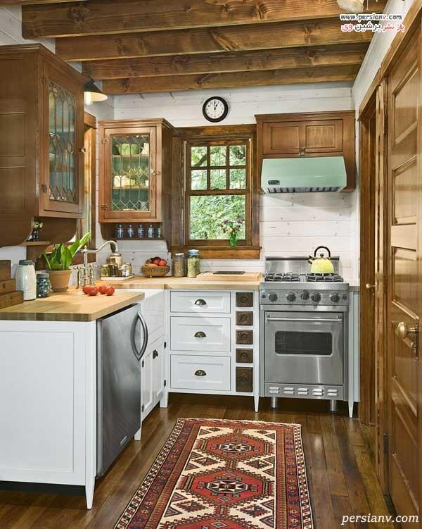قالی رنگی در آشپزخانه