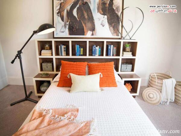 تاج تخت به شکل قفسه کتاب