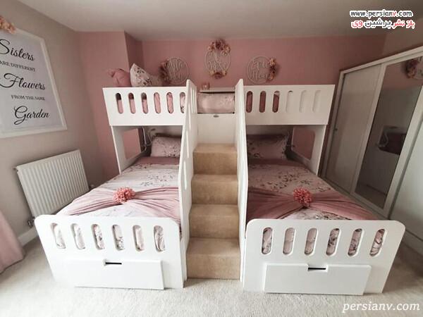 دکوراسیون اتاق خواب سه تخته