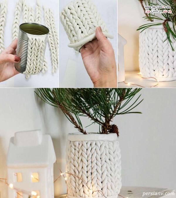 ساخت گلدان با خمیر پلیمری