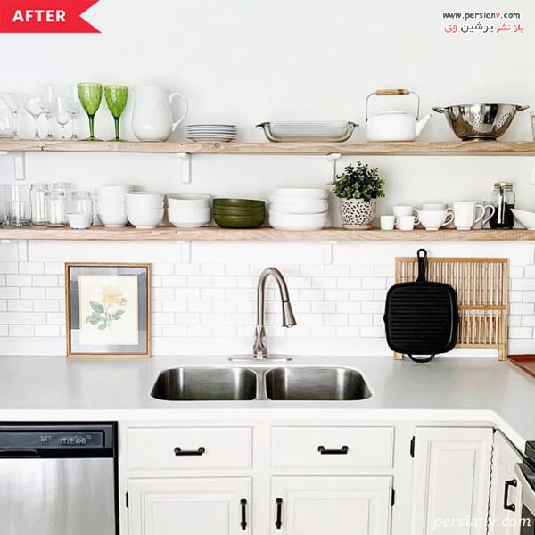 دکور آشپزخانه با شلف