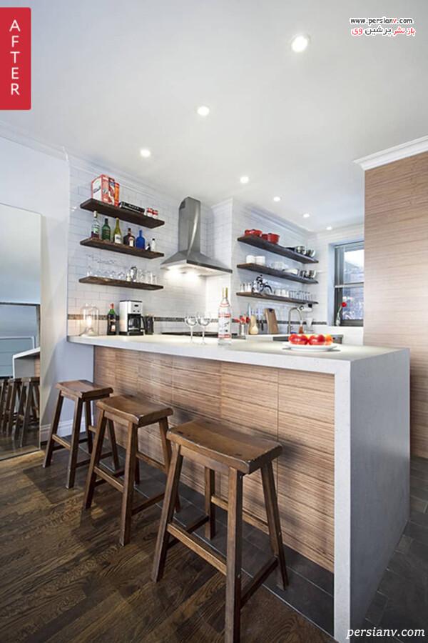 آشپزخانه با شلف شناور