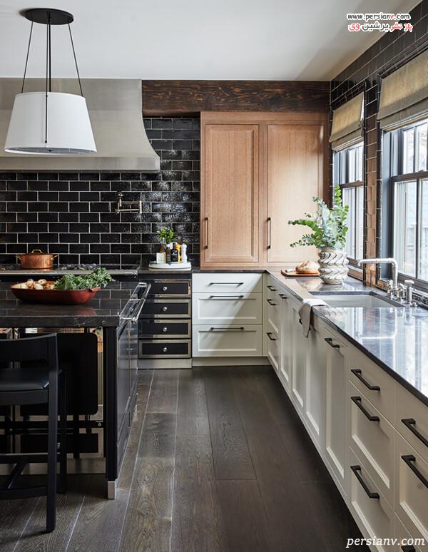 کاربرد چند در رنگ در طراحی آشپزخانه