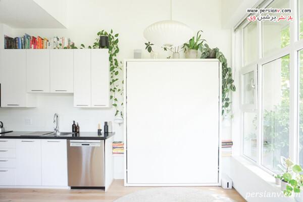 تعبیه تخت کنار آشپزخانه