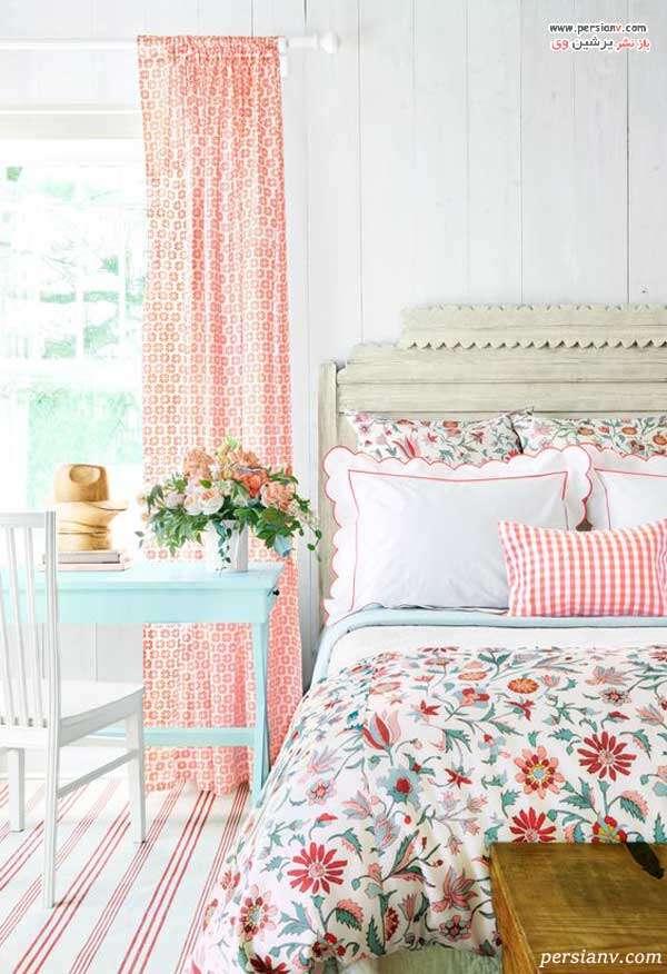 پرده و سرویس خواب گلدار
