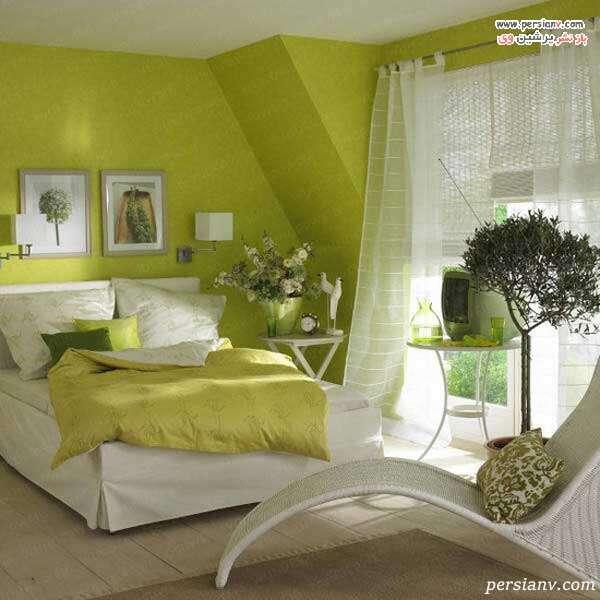 رنگ آمیزی دیوار به رنگ سبز
