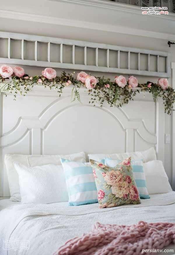 تزیین تخت با گل مصنوعی