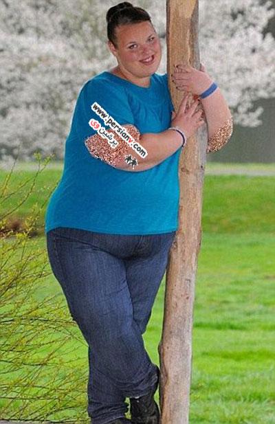 چاق ترین دختر نوجوان بریتانیا +عکس