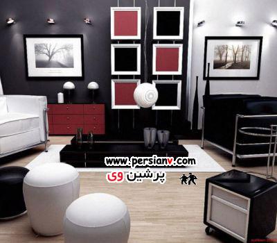 دکوراسیون منزل با رنگ های سیاه و سفید + عکس