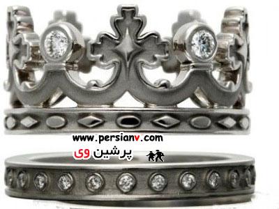 حلقه های ازدواج زیبا و گران قیمت شاهزاده های دنیا ( عکس)