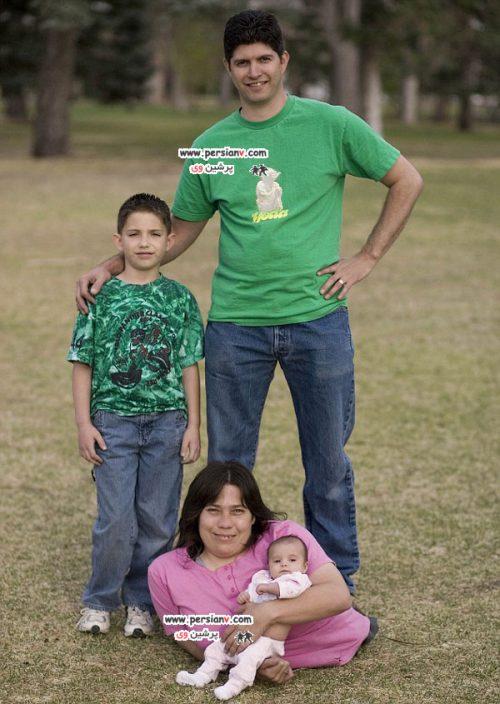 مادر دو فرزند با نصفه تنه +عکس